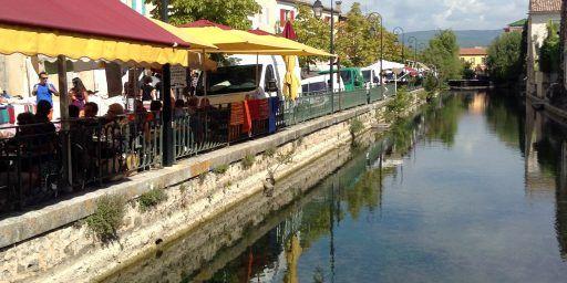 Canal L'isle Sur la Sorgue Provence @Bfblogger2013