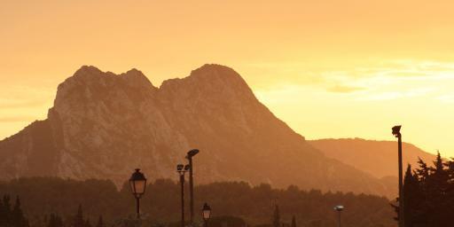Eygalieres Sunset Alpilles Provence Villages