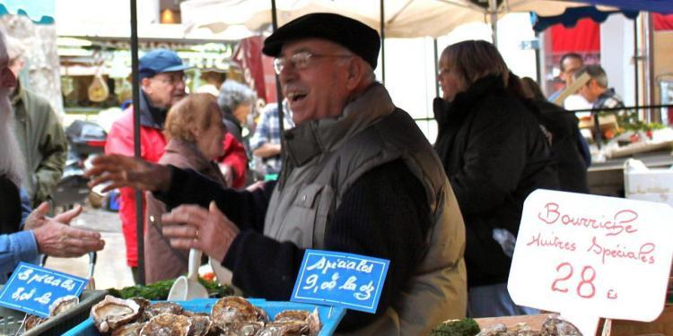 Shellfish at the market in Provence #Provence @PerfectlyProvence