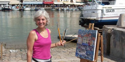 Jill Steenhuis at Easel Cassis #Artist #Provence