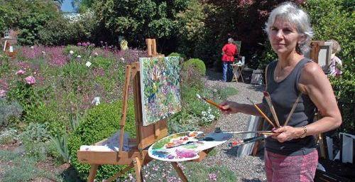 Jill Steenhuis at easel #Artist #Provence