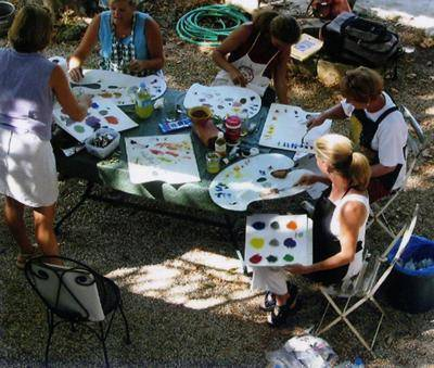 Mixing Colors Workshops Jill Steenhuis #Provence