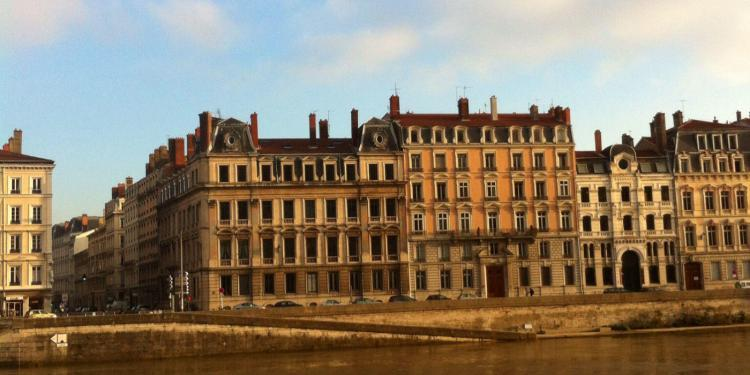 #Lyon View from the bank of the Rhone @bfblogger2013