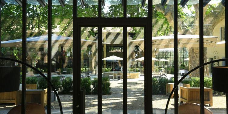 Domaine de Manville vue du bar @DomaineManville