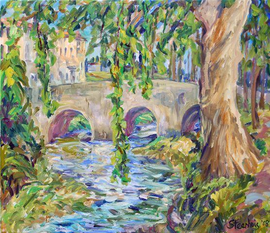 St. Pons Bridge By Jill Steenhuis #Provence #Artist