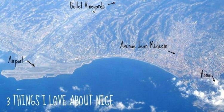 Aerial View Nice Love French Riviera @RivieraGrape