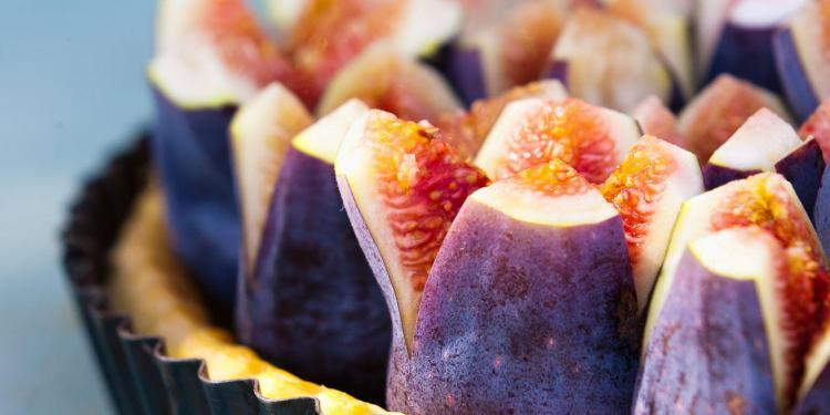 Fig Almond Tart by Patricia Wells #PatriciaWells credit Jeff Kauck