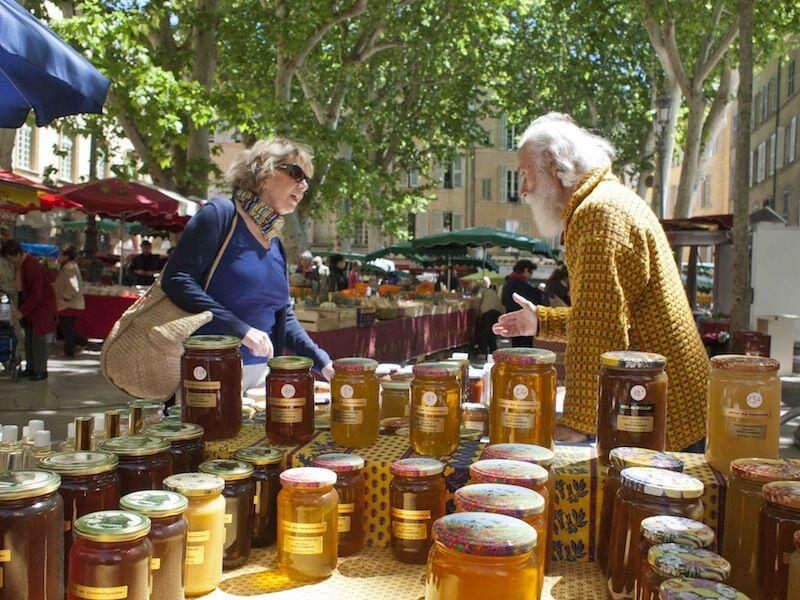 Honey vendor #AixenProvence #Market #Provence