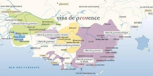provence wine map #WinesofProvence