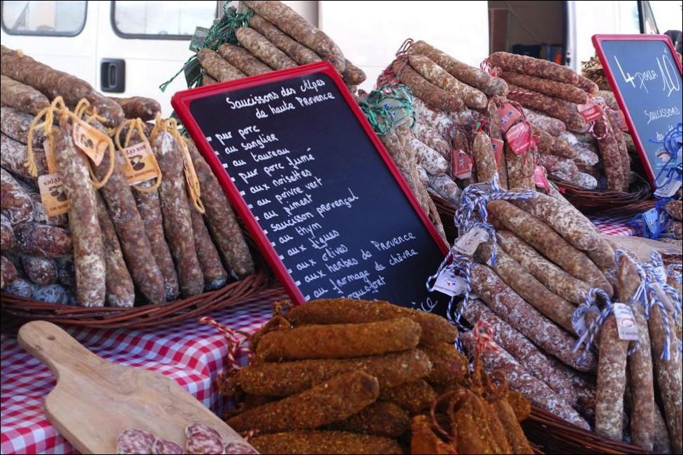 Market Sausage #Markets #Provence @unxplorer