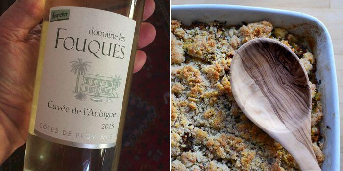 Crumble aux Poulet and Fouques #WineParing #Wines #Provence @Susan_PWZ