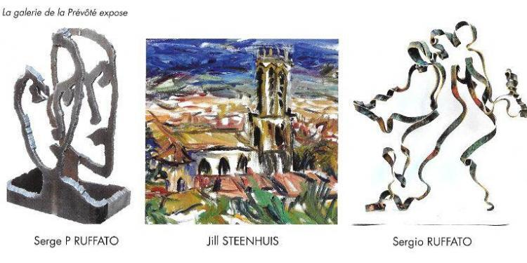Jill Steenhuis and Sergio Ruffato exhibits in #AixenProvence