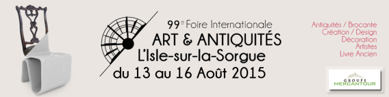 International Art & Antiques Fair in L'Isle Sur La Sorgue #Provence @VaucluseDreamer