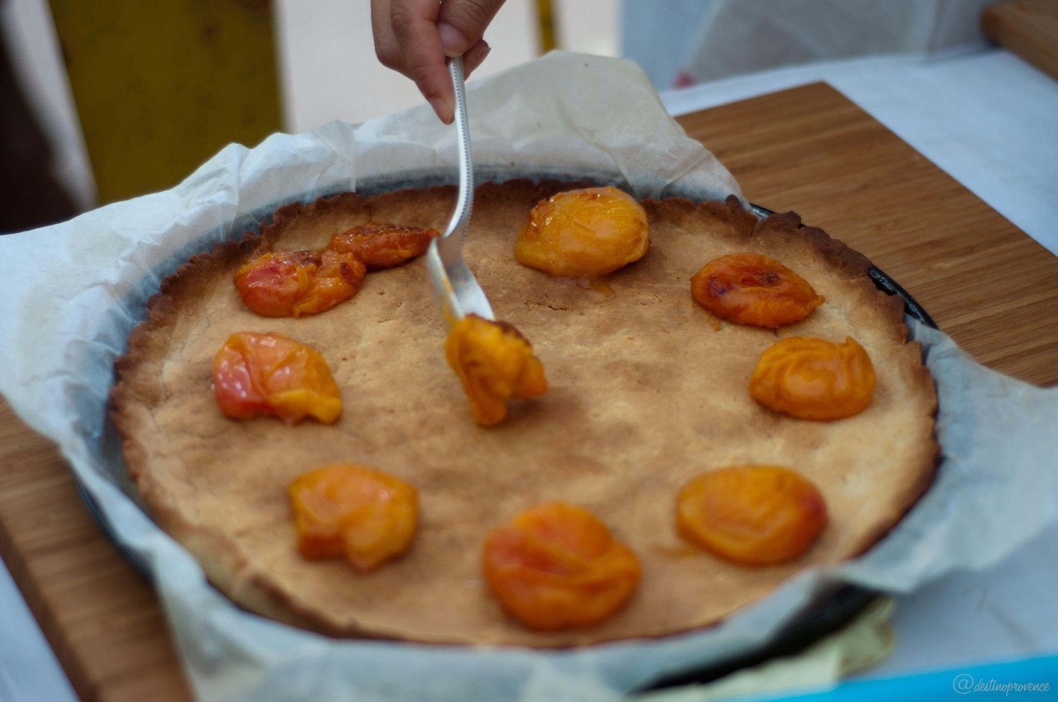 Roasted Apricot Tart Almond Crust @ProvenceCook