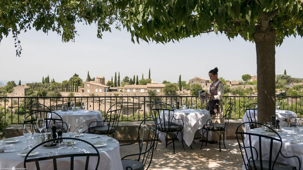 Dining at la Bastide de Gordes Luxury Hotel