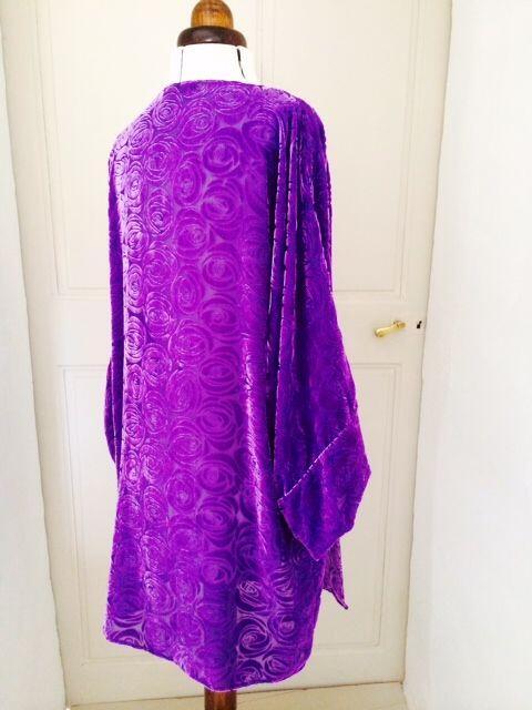 Evening jacket in silk velvet devore @alabreche_annie