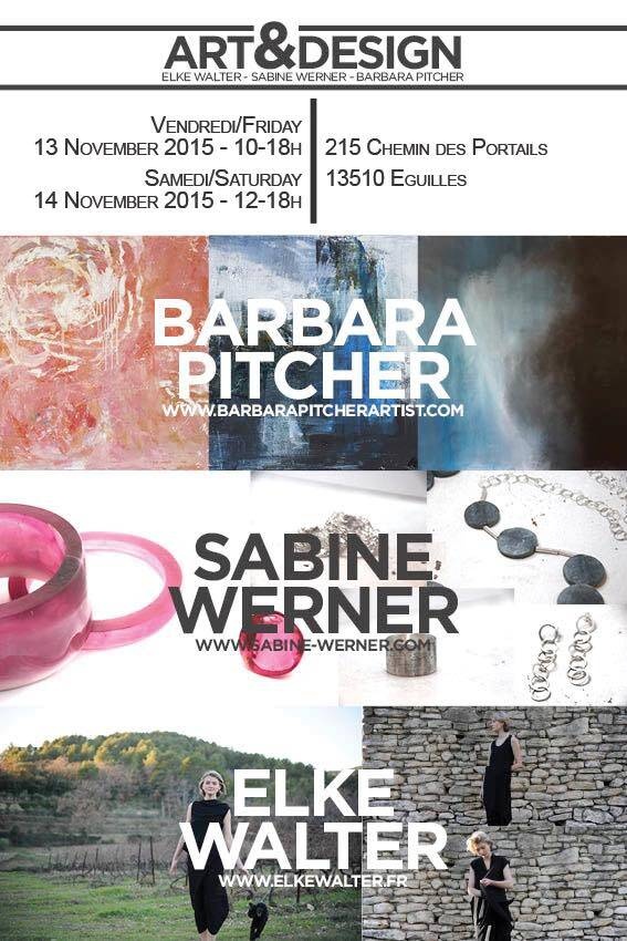 Artists vernissage invitation #Artists #Provence @BarbaraPitcher