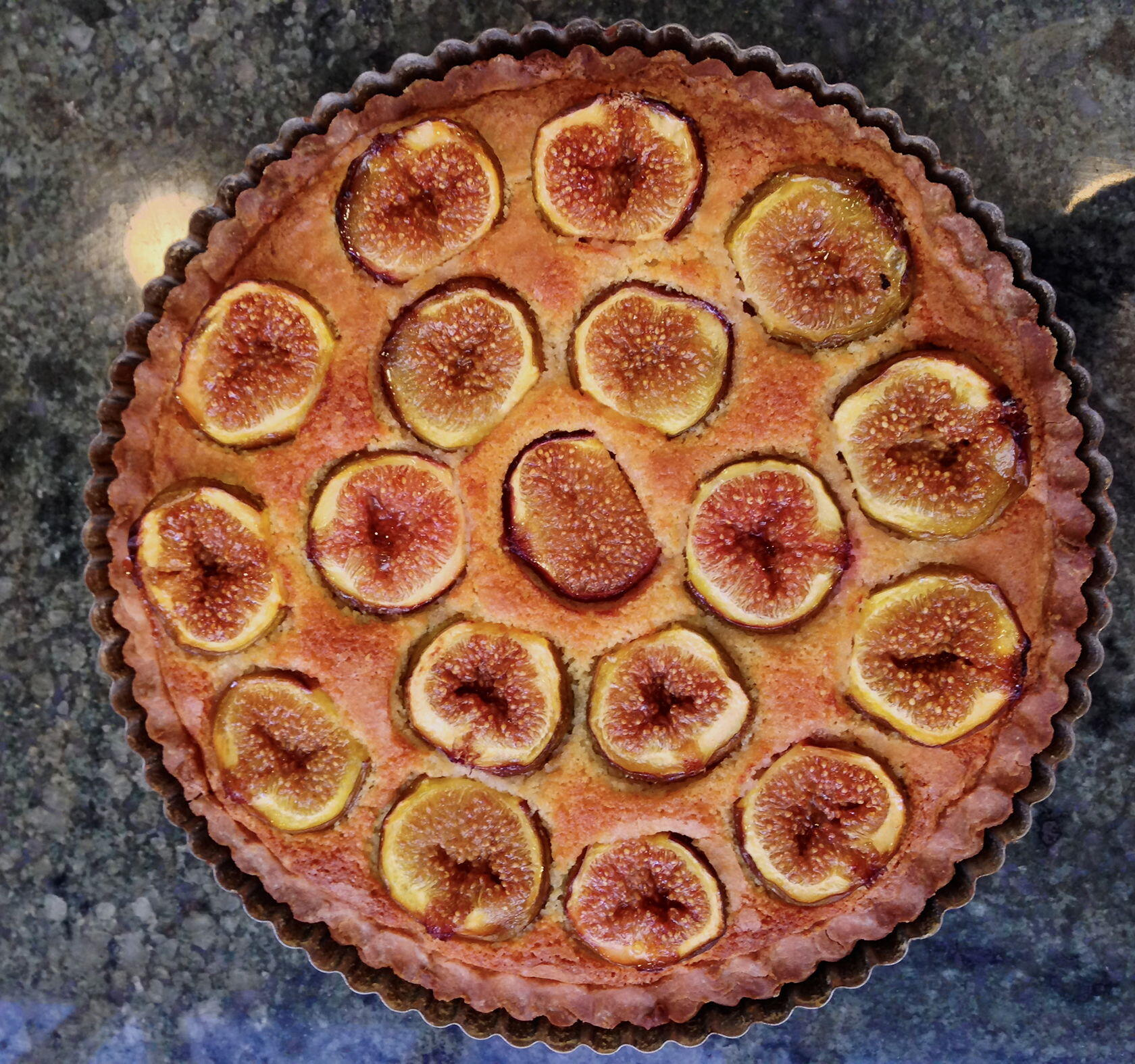 Fig Tart with Marzipan #FigRecipes @PerfProvence