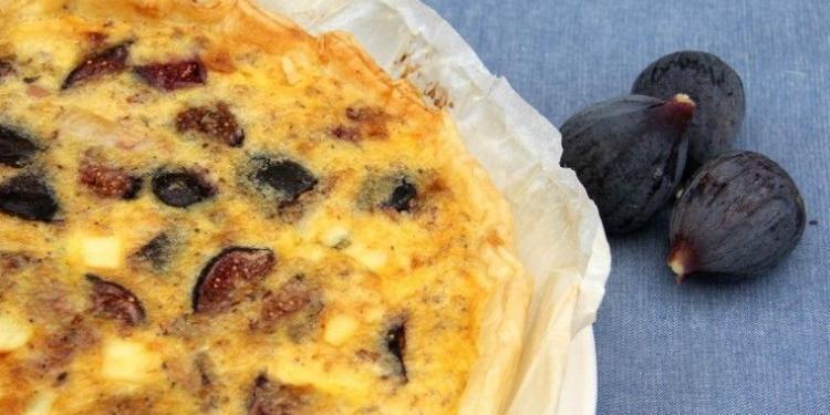Fig Walnut and Lardon Quiche #Figs #Recipe @MirabeauWine
