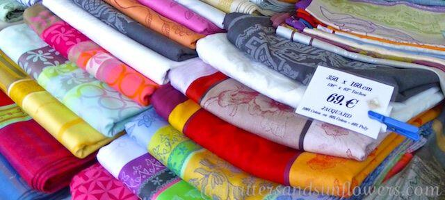 French table linens #Markets #Provence @ShutrsSunflowrs