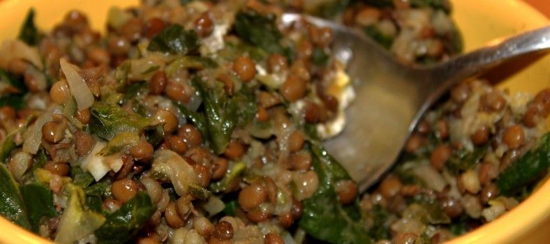 Lentil Spinach Stew @PerfProvence