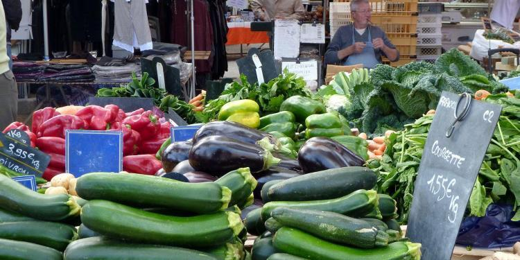 Zucchini at St Tropez Market @PerfProvence
