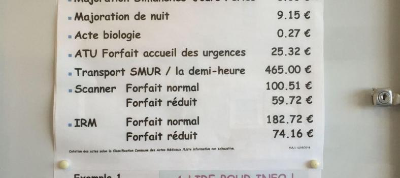 Medical tariff @bfblogger2015