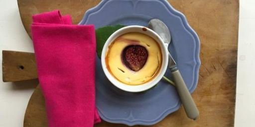 Mini Fig Ricotta cheesecake @MirabeauWine
