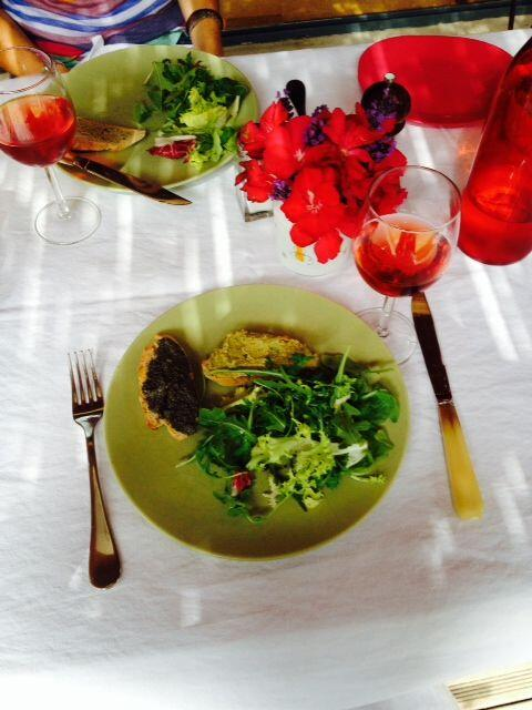 Olive Tapenades served with salad #Olives #Tapenade @ProvenceCook