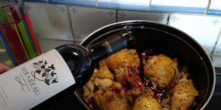 Coq au vin Recipe @MirabeauWine