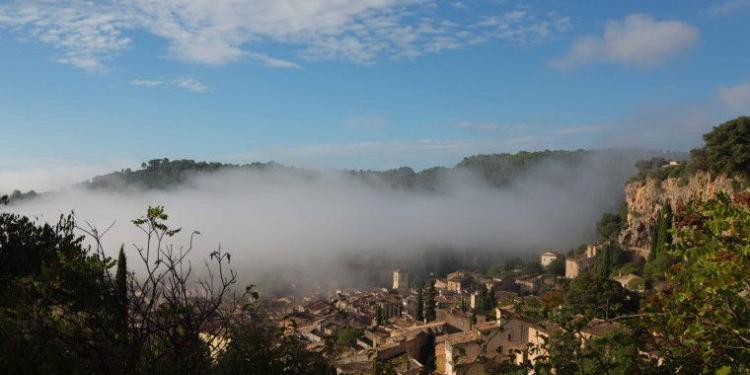 Cotignac in the mist #Cotignac @MirabeauWine