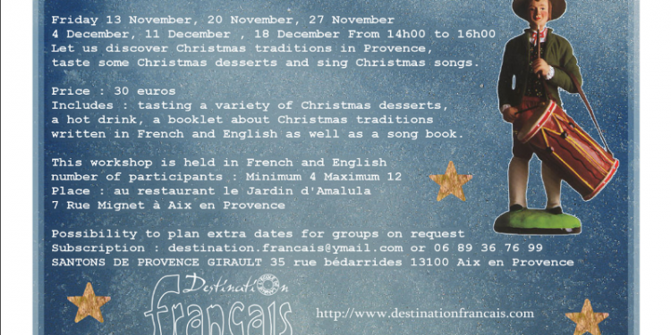 Christmas Workshops in French #AixenProvence #DestinationFrancais @Aixcentric
