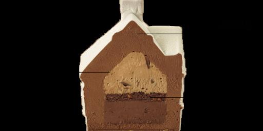 Le chalet enneige au chocolat #Dessert by @Picard