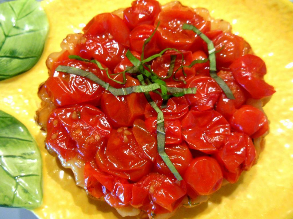 Tomato tart Cuisine de Provence #CookingSchool #VaisonlaRomaine