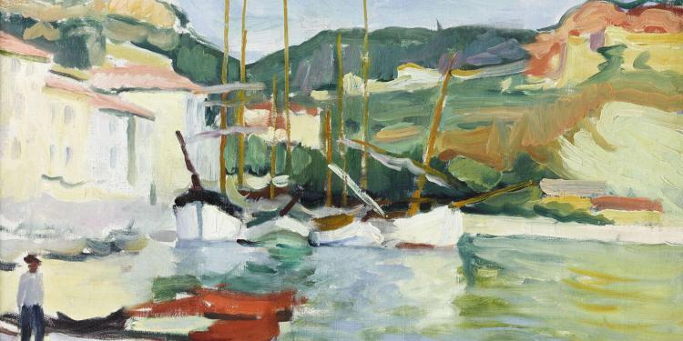 Charles Camoin, Port de Cassis, 1905 (Huile sur toile, 65 x 74 cm) – Fondation Bemberg, Toulouse © RMN-Grand Palais/Fondation Bemberg/Mathieu Rabeau