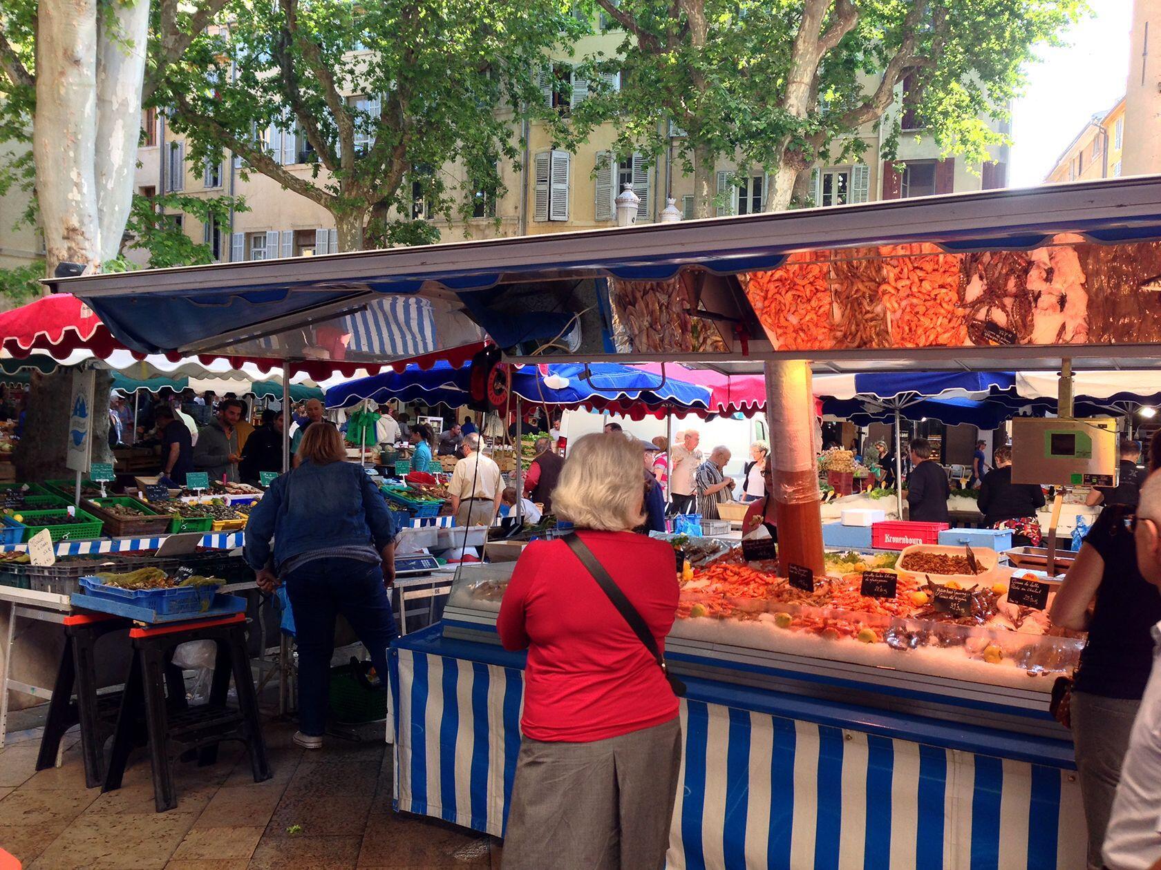 Place Richeleme Market Aix en Provence
