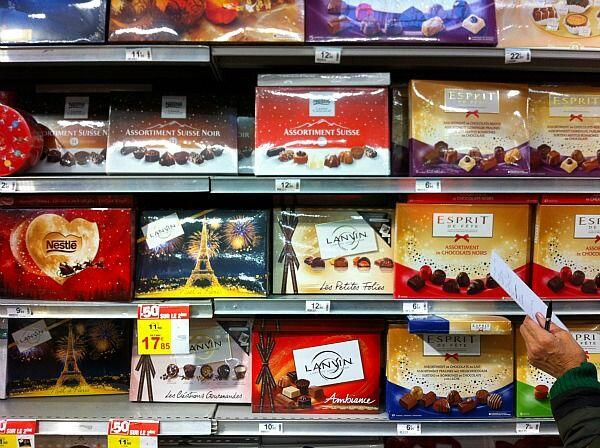chocolates in supermarket #Chocolate #France @FibiTee