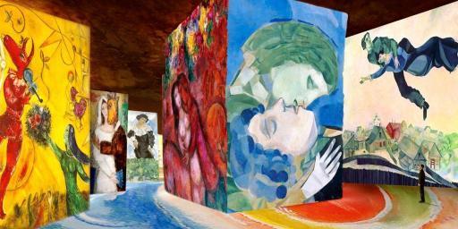 Carrieres de Lumieres Chagall @Culturespaces