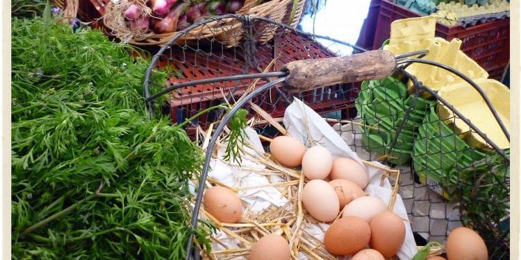 Eggs Provence Market Produce @TableEnProvence