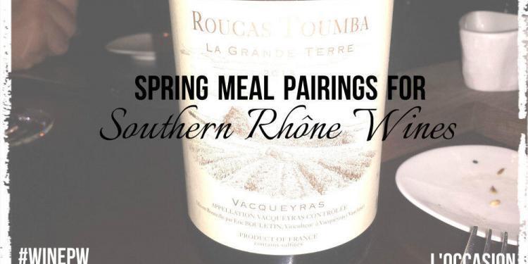 Spring meal wine and food pairings @JillBarth