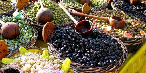 Olives for sale in the Uzes market #Uzes @ShutrsSunflowrs