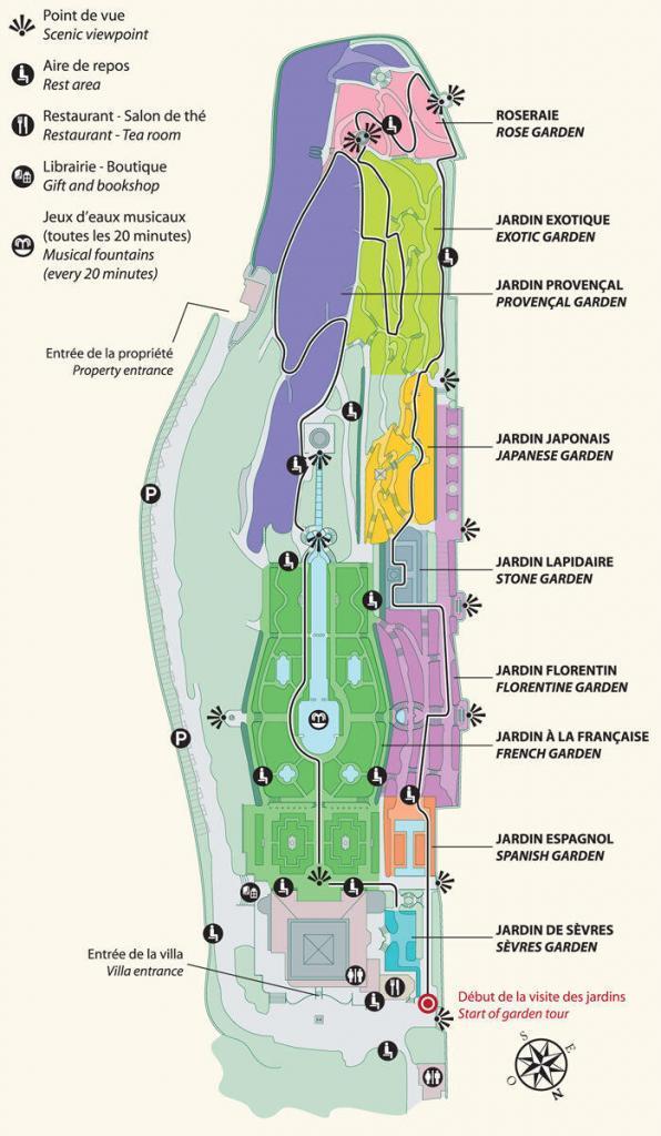 Villa Ephrussi de Rothschild Garden Map @Culturespaces
