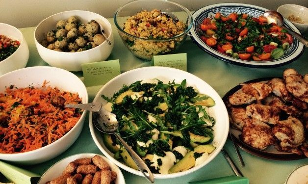 Salads for a party @Aixcentric