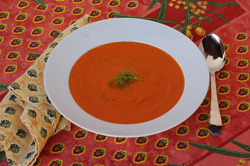 Fennel Tomato soup with Pastis @CocoaandLavender
