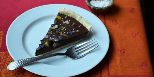 Chocolate Mendiant Tart Recipe Christmas @CocoaandLavender
