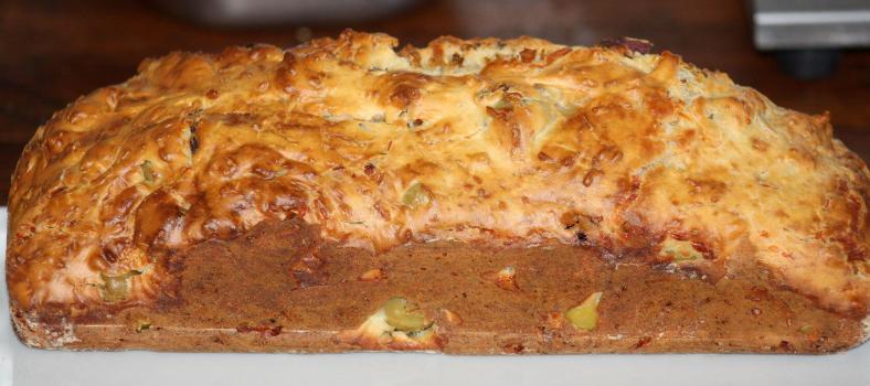 Cake aux Olives Vertes @GingerandNutmeg