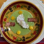 Monkfish cream of peas @Cooknwithclass @PerfProvence