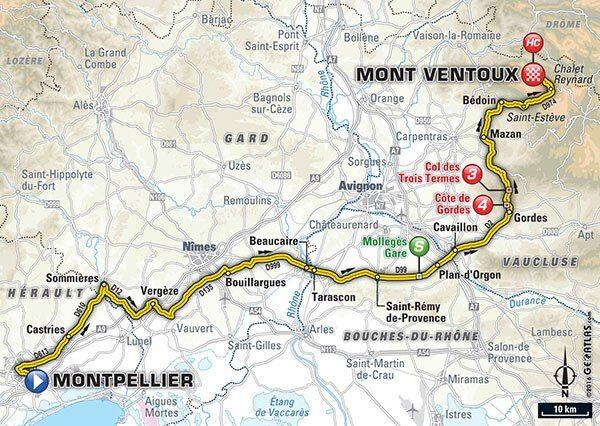 Tour de France Stage 12 July 14 2016 Map Credit: Tour de France