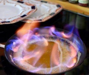 Flamed crepes suzette @CocoaandLavender