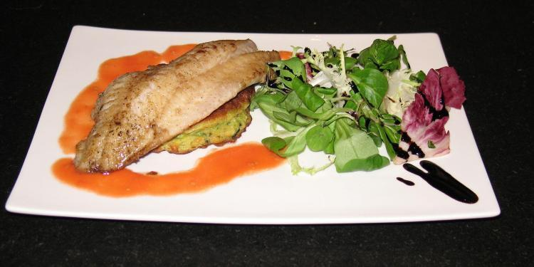 Fillet of Dorade with a Courgette Pancake #Recipe @MasdAugustine